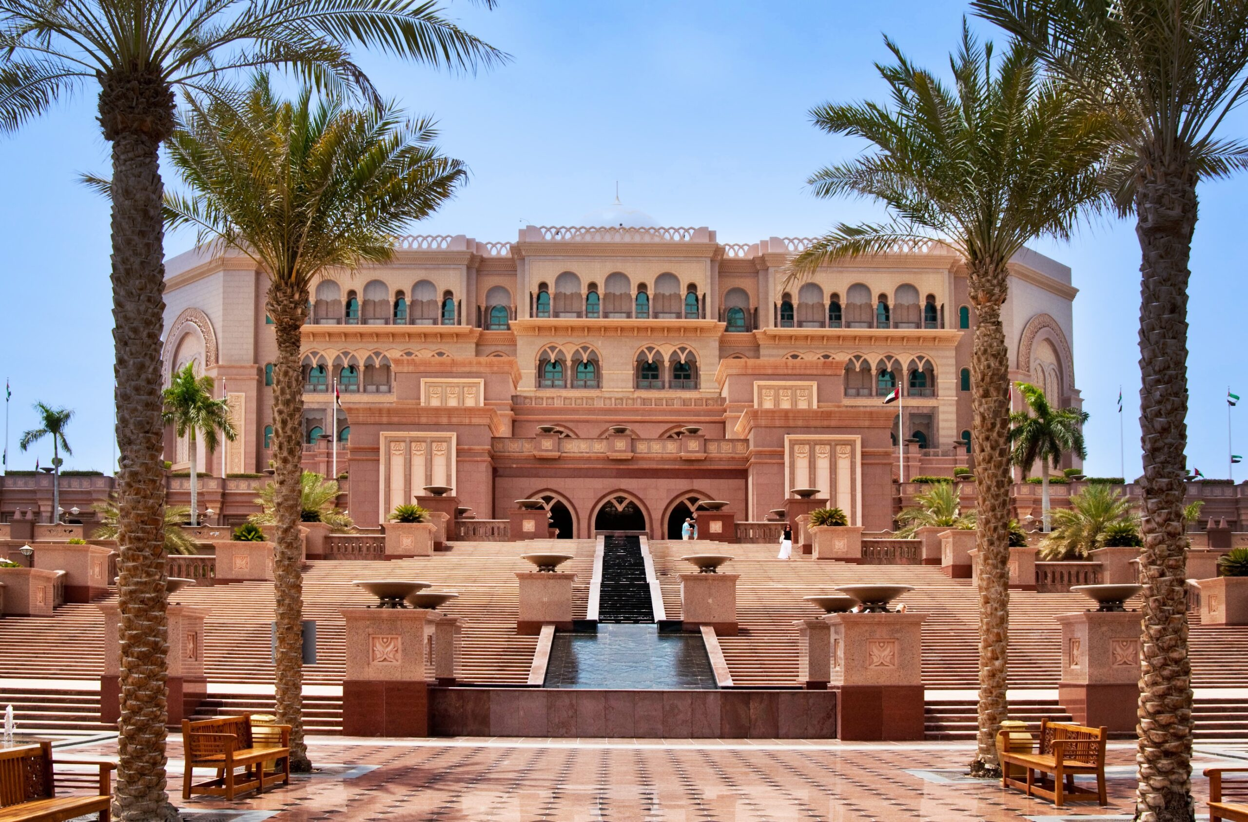 DUBAI - JUNE 5: Emirates Palace in Abu Dhabi on June 5, 2013 in Dubai. Emirates Palace was originally conceived as a venue for government summits and conferences in the Persian Gulf, and only later was turned into a hotel